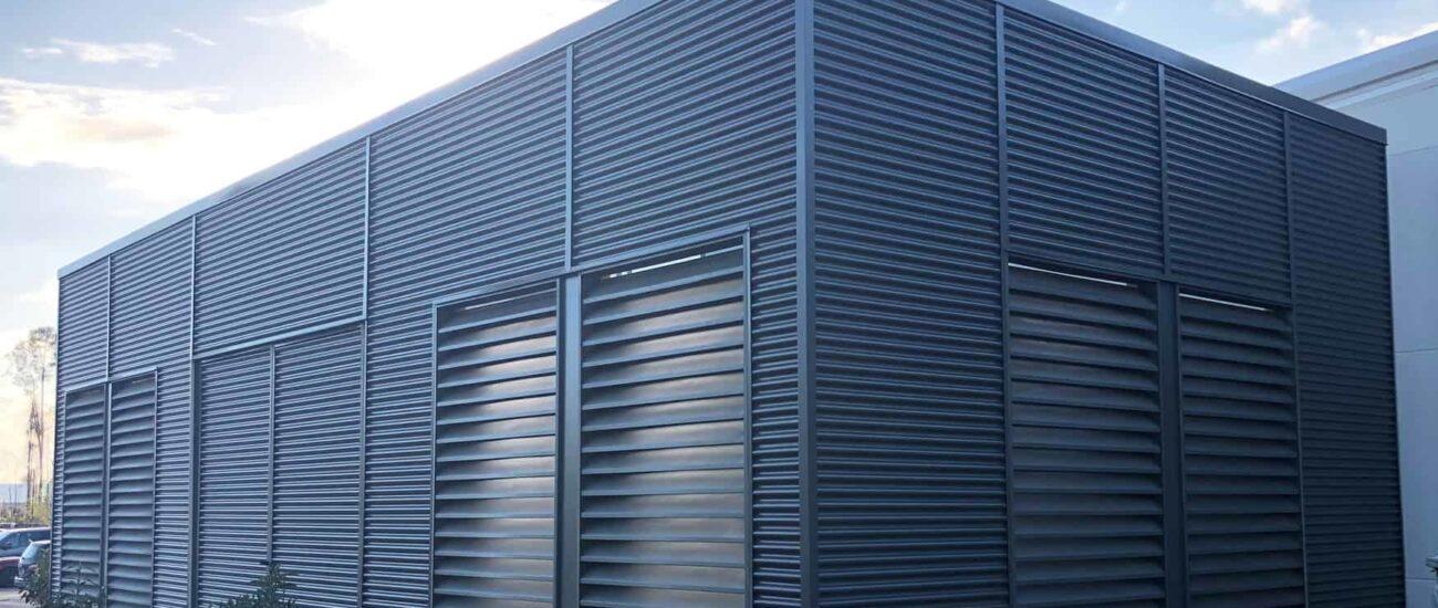 Office Building using HC-16 corrugated panel.